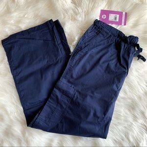Med Couture Navy 2 Cargo Pocket Scrub Pants NWT XL